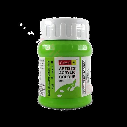 Camlin Kokuyo Artist Acrylic 500ml - Cadmium Green Pale