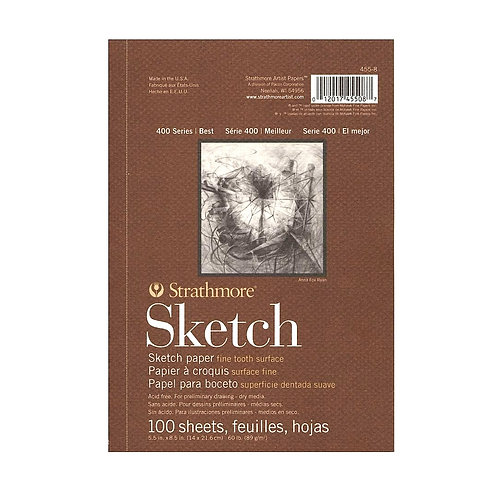 Strathmore 400 Series Sketch 5.5''x8.5'' - 89 GSM Paper - 40 sheets