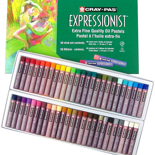 Sakura Cray-Pas Expressionist Assorted Colour Oil Pastel - Set of 50