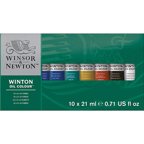 Winsor & Newton - Winton Oil Colour Set 21ml Tubes in 10 Colours