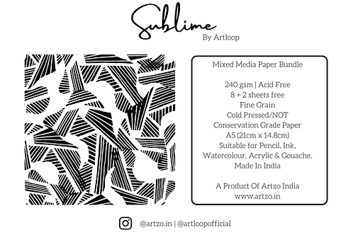 Sublime 240gsm A5 Mixed Media Bundle by Artloop