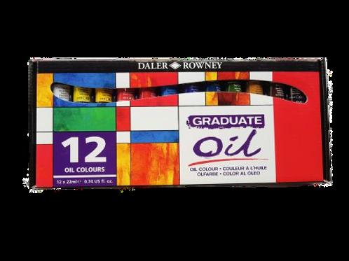 Daler Rowney Graduate Oil - Set of 12x22ml