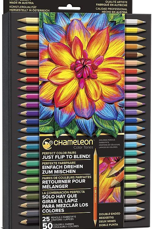 Chameleon Artist Pencils Set ‐ 25 Double Side ‐ 50 Shades