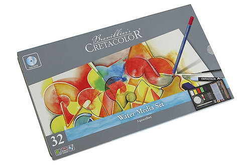 Cretacolor Watermedia Tin - Set of 32 pieces