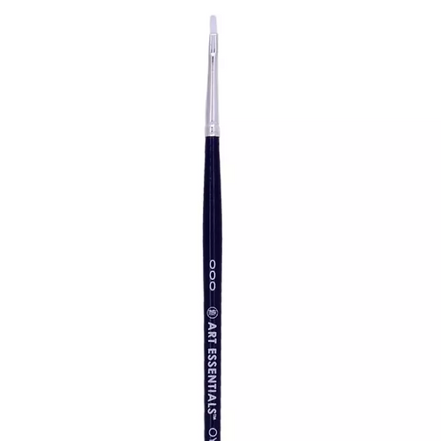 Art Essentials Oyster Synthetic 965 Series Flat Brushes Individual Size - 000