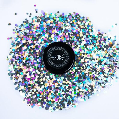Epoke Silver Holographic Glitter (G1) Chunky - 15g