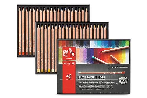 Caran Dache Artist Luminance Colour Pencils - Set of 40