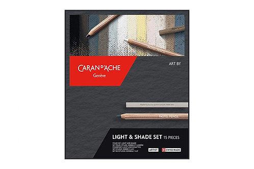 Caran Dache Artist Art by Light and Shade set of 15 piece