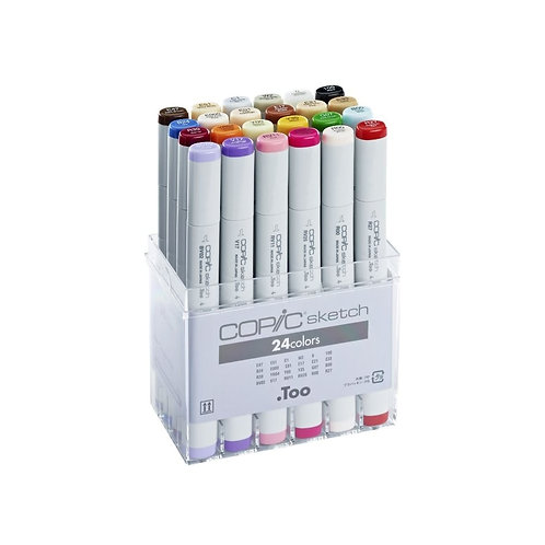 Copic Sketch Marker - Set of 24 Colours