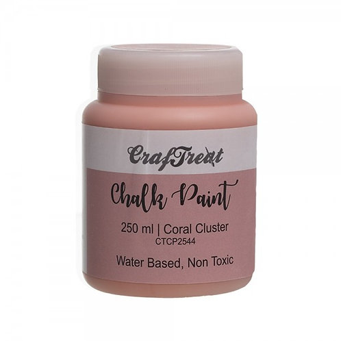 CrafTreat Chalk Paint 250ml - Coral Cluster