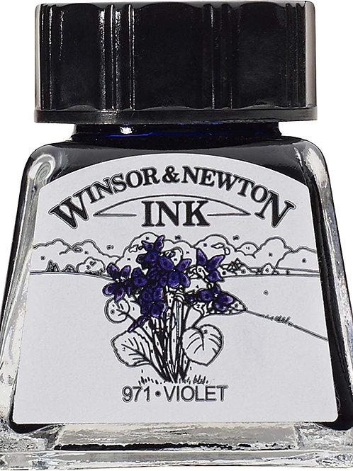 Winsor & Newton Drawing Ink Bottle Violet - 14ml & 30ml