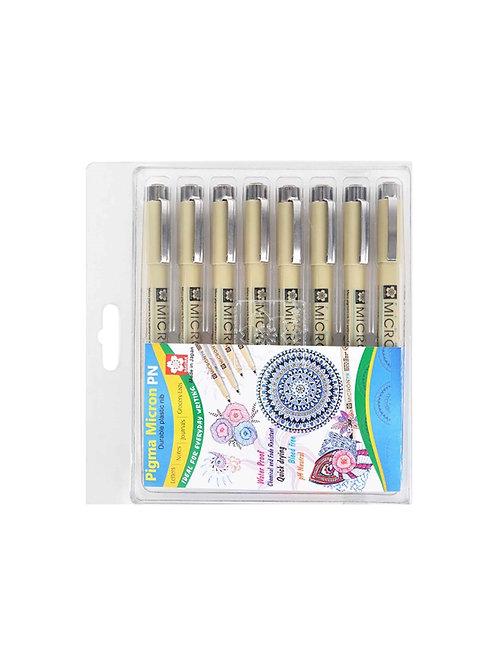 Sakura Pigma Micron Pen - Set of 8