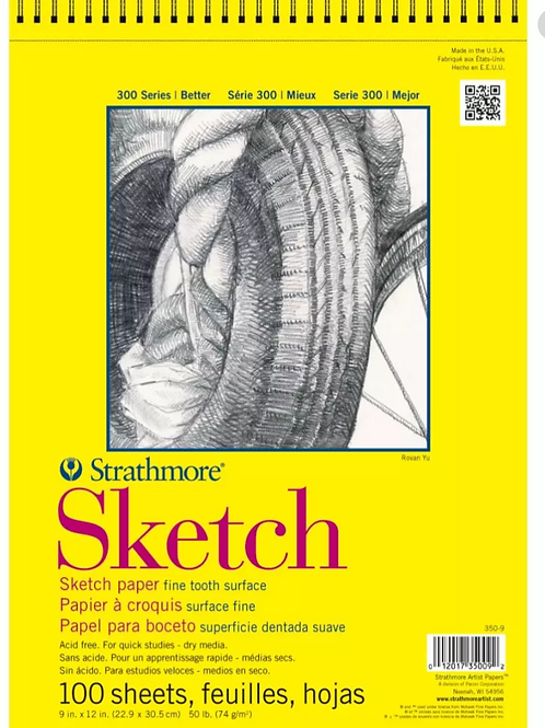 Strathmore 300 Series Sketch 9''x12''- 74 GSM Paper - 100 Sheets