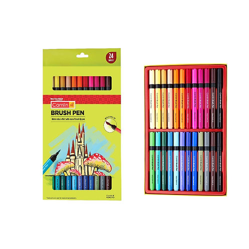 Camlin Kokuyo Brush Pens - Set of 24 Shades