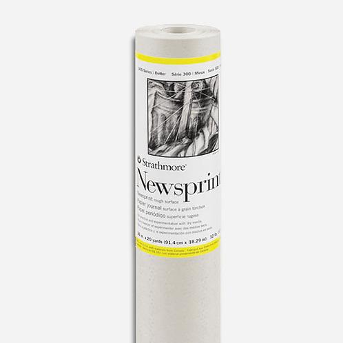 Strathmore 306-36 300 Series Newsprint Roll - Rough Surface - 53gsm