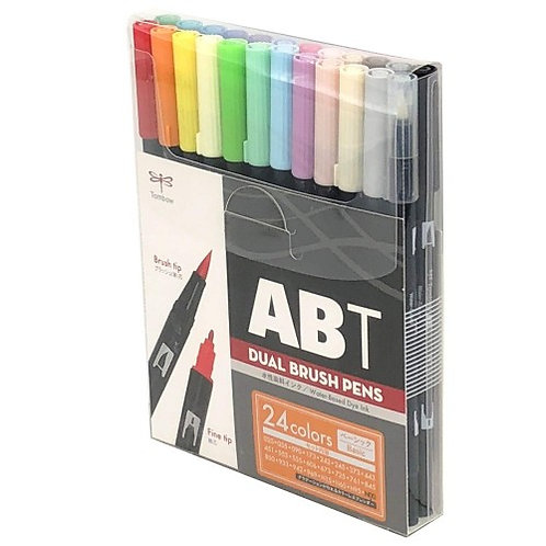 Tombow ABT Dual Brush Pen Set Of 24 Assorted Colours