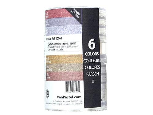 Colorfin Pan Pastel Ultra Soft Artist Metallic Pastel Set- Set of 6 (30061)