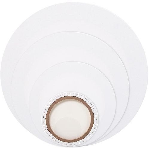 Circle Stretched Canvas - 12 inches diameters