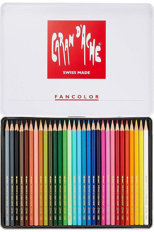 Caran Dache Fancolor Colour Pencils - Set of 30 colours