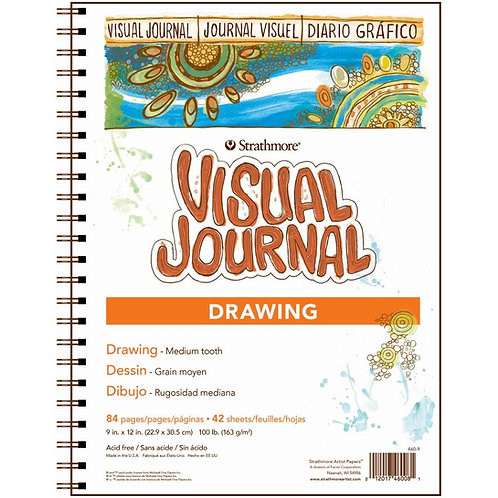 "Strathmore 400 Series Visual JournalDrawing - 9""x12"" 163 GSM- 84 Sheets"