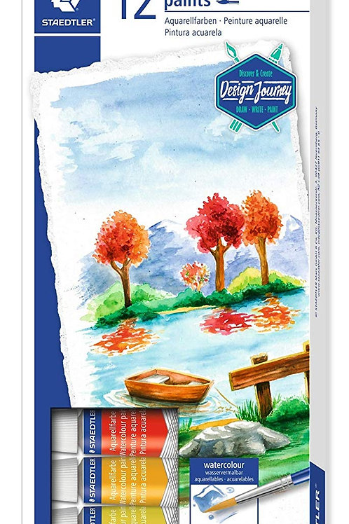 Staedtler Aquarell Water Colour Paint Set - Pack of 12 Tubes