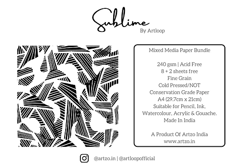 Sublime 240gsm A4 Mixed Media Bundle by Artloop