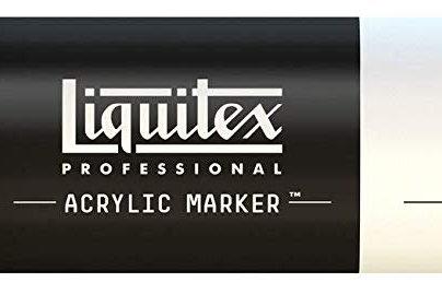 Liquitex 432 Acrylic Paint Marker 15mm Wide - Titanium White