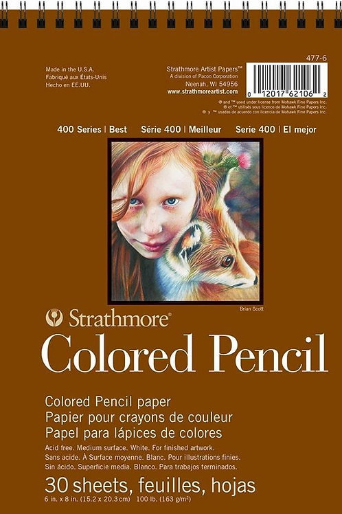"""Strathmore 400 Series Colored Pencil Pad 6""""x8"""" - 30 Sheets"""