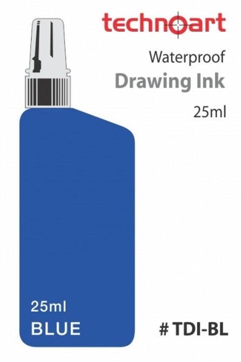 Rotring Waterproof Drawing Ink 23ml - Blue