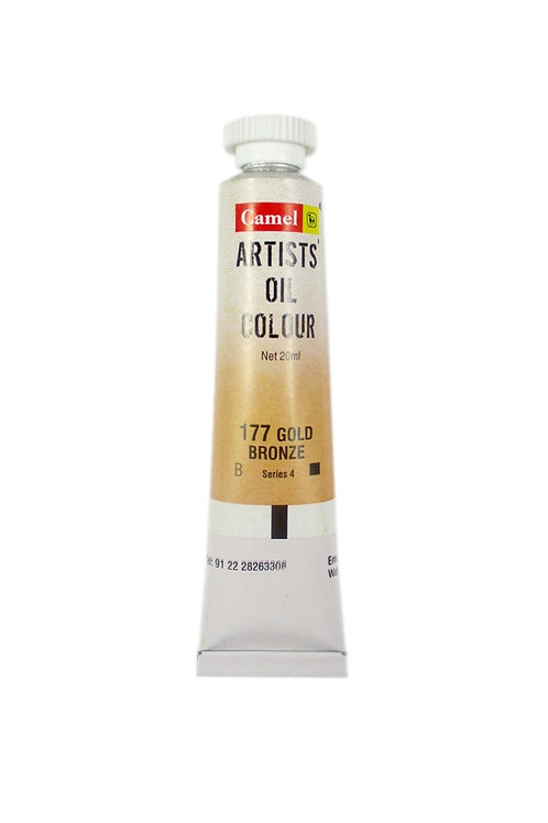Camlin Kokuyo Artists Oil Colours 20ml - Gold Bronze