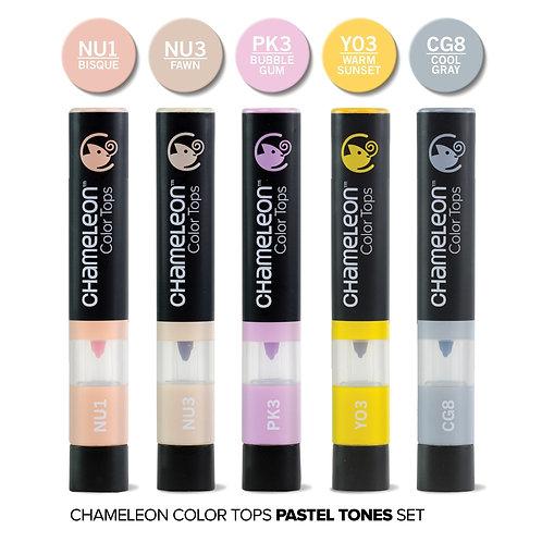 Chameleon 5 Colour Tops Pastel Tones Set