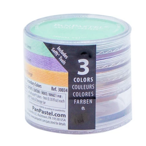 Colorfin Pan Pastel Pearlescent Secondary Artist Pastels Set - Set of 3 (30034)
