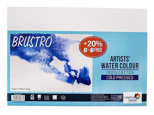 Brustro Artists Watercolour Papers 100% Cotton 300gsm