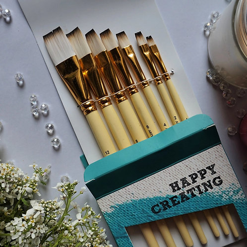 Artyshils Art Flat Synthetic Hair Brushes for Painting