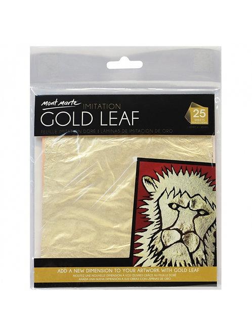 Mont Marte Imitation Gold Leaf 14x14cm - 25 Sheet