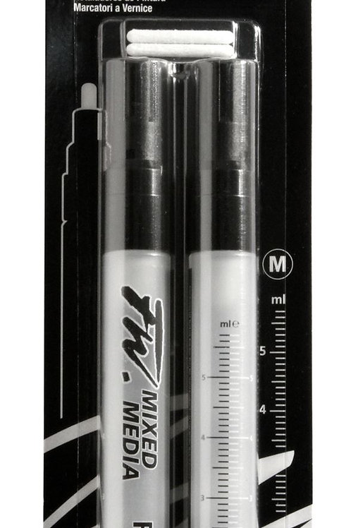 Daler Rowney FW Refillable Reusable Empty Paint Markers - 2.6mm