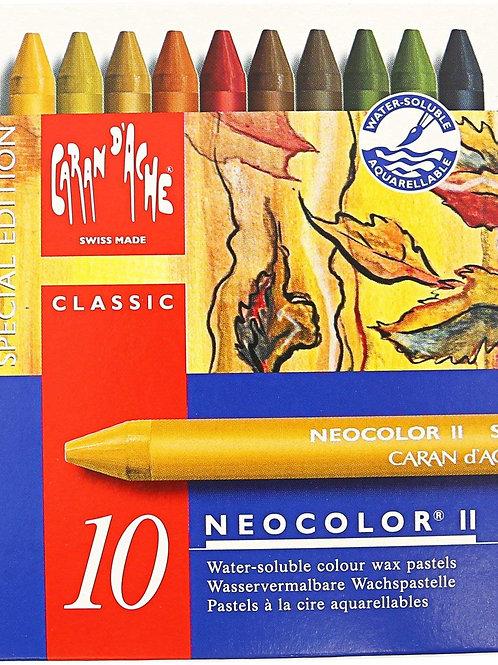 Caran Dache Classic Neocolor II Autumn Ass. 10pcs - Gift Pack