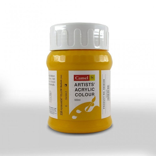 Camlin Kokuyo Artist Acrylic 500ml - Permanent Yellow Medium