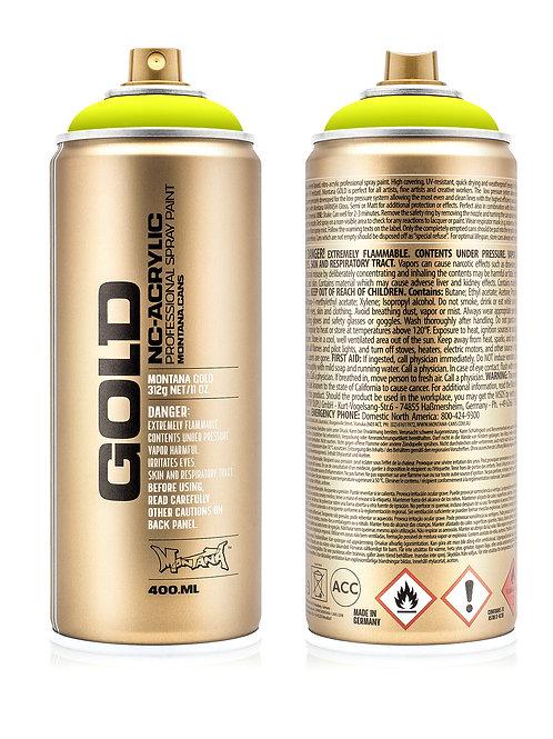 Montana Gold Spray Paint 400ml Fluoro Flash Yellow - F1000