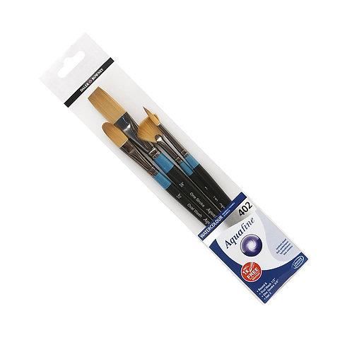 Daler Rowney Aquafine Watercolour Brush Wallet 402 - Set of 4