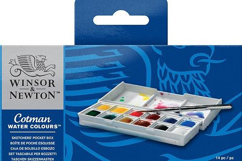 Winsor & Newton Cotman Watercolours Set - Pocket Box