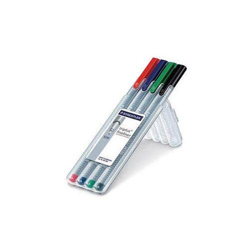 Staedtler Triplus Fineliner Pen (Pack Of 4 Colors)