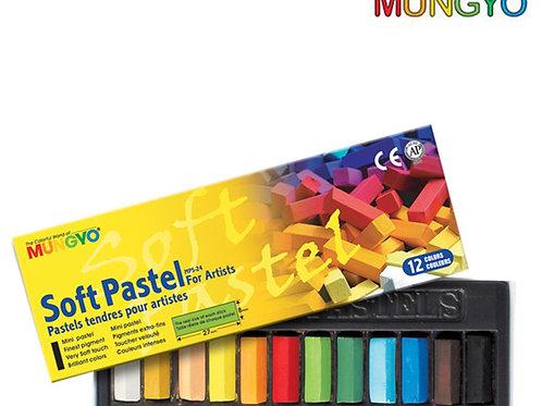 Mungyo Soft Pastel For Artist - 12 Half Length Colours