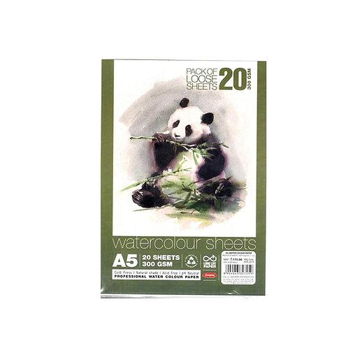Anupam Watercolour Sheets 300gsm 20 Sheets - A5