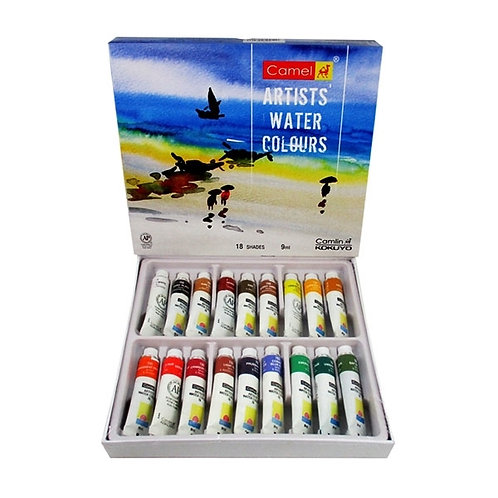 Camel Artist Water Colours Set 9ml x 18 shades