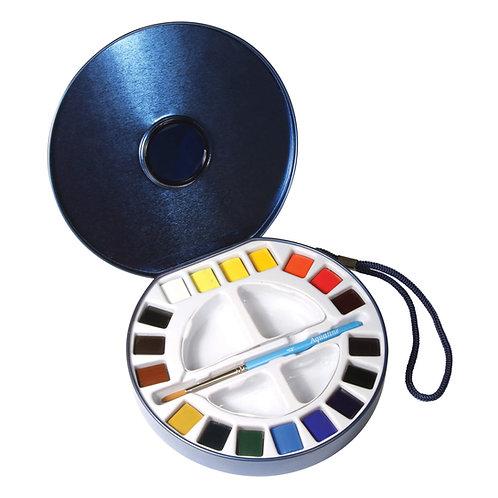 Daler Rowney Travel Aquafine Watercolour Set - Set of 18