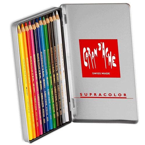 Caran Dache Supracolor Metal Box - Set of 12