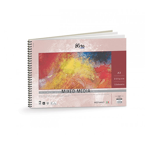 Campap Arto Mixed Media painting wire-o sketchbook A3