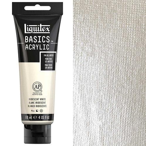 Liquitex Basics Acrylic Colour 118ml - Iridescent White