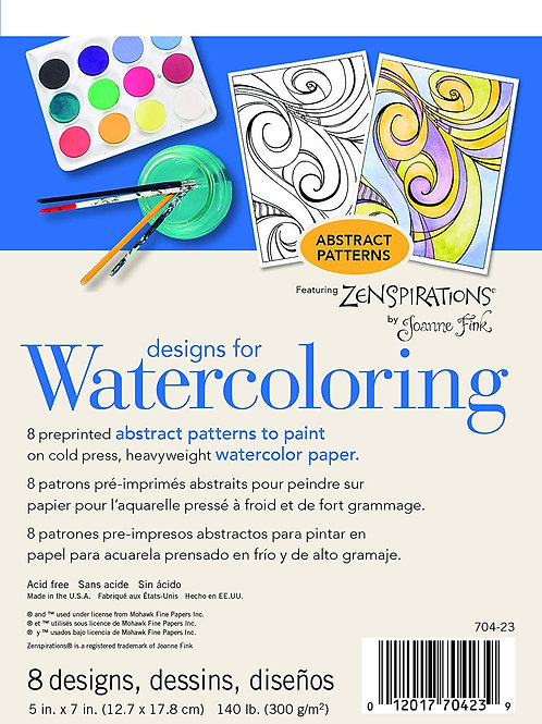 Strathmore 704-21 Designs for Watercoloring Abstract 300GSM - 8 Sheets